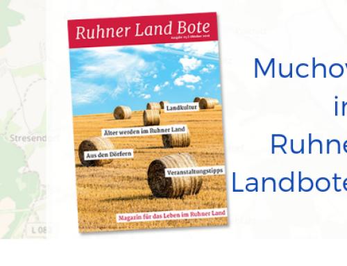Artikel für Ruhner Landbote 09.2018